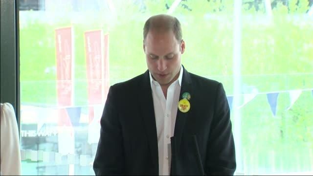 duke and duchess of cambridge and prince harry help launch heads together project; england: london stratford: olympic park: int catherine, duchess of... - angesicht zu angesicht stock-videos und b-roll-filmmaterial