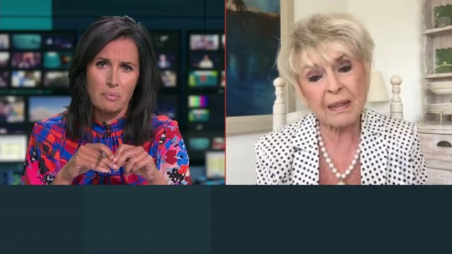 majority of over 55's would not admit to being lonely; england: int gloria hunniford live interview sot. - gloria hunniford stock-videos und b-roll-filmmaterial