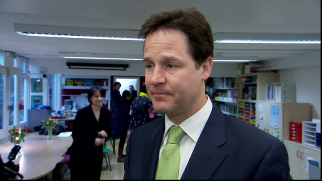 nick clegg visits marlborough family education service nick clegg interview sot mental health problems affect lots of people/ many mental health... - ニック クレッグ点の映像素材/bロール