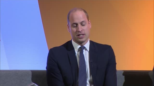 prince william addresses 'this can happen' conference england london greenwich int prince william duke of cambridge speaking at 'this can happen'... - helicopter pilot stock videos & royalty-free footage