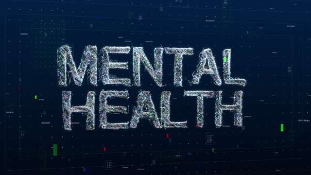 mental health text keyword made of digital animated particles - schizophrenia stock videos & royalty-free footage
