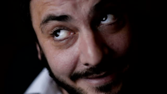 mental illness - raised eyebrows stock videos and b-roll footage