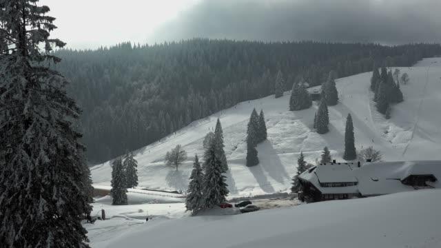 Menzenschwand Lodge at Feldberg Pass, South Black Forest, Schwarzwald, Baden-Wurttemberg, Germany, Europe