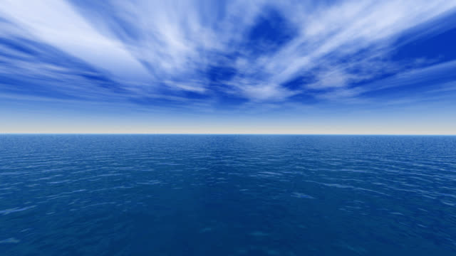 mer calme / sea and cloud landscape (hd) - tranquil scene stock videos & royalty-free footage