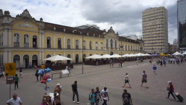 mercado público (public market) de porto alegre, southern brazil - stato di rio grande do sul video stock e b–roll