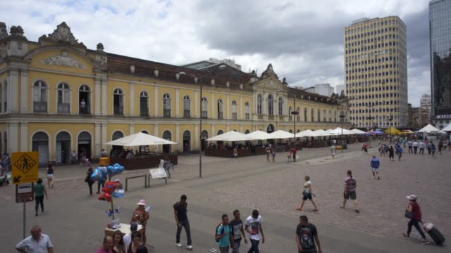 mercado público (public market) de porto alegre, southern brazil - リオグランデドスル州点の映像素材/bロール