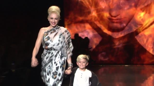 mercedes benz fashion week fall 2011, new york, ny, united states, . - gwen stefani stock videos & royalty-free footage