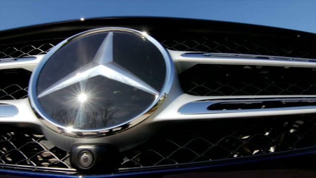 mercedes benz has been active on introducing new cars, here, the 2016 glc with safety camera installed just under the star. - mercedes benz markenname stock-videos und b-roll-filmmaterial