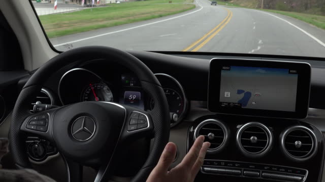 mercedes benz has been active on introducing new cars the 2016 glc with a lot of safety features installed - driverless car stock videos & royalty-free footage