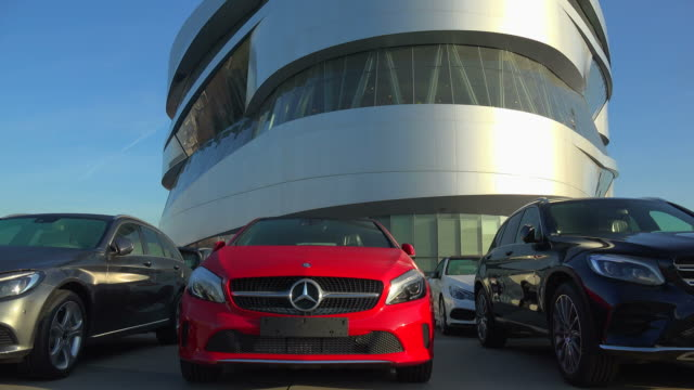 mercedes benz museum in the urban district of bad cannstatt, stuttgart, baden-wuerttemberg, germany - stationary stock videos & royalty-free footage