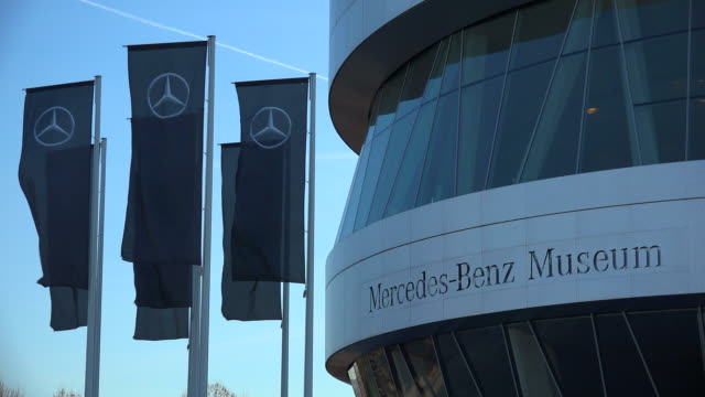 mercedes benz museum in the urban district of bad cannstatt, stuttgart, baden-wuerttemberg, germany - mercedes benz stock videos & royalty-free footage