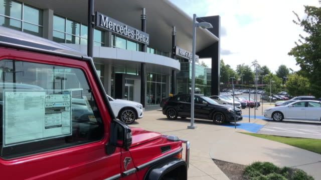 mercedes g class is for sale in atlanta georgia usa - car showroom stock videos & royalty-free footage