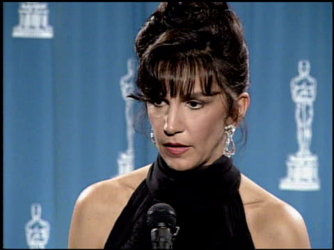 mercedes ruehl at the 1992 academy awards at dorothy chandler pavilion in los angeles california on march 30 1992 - dorothy chandler pavilion stock videos and b-roll footage