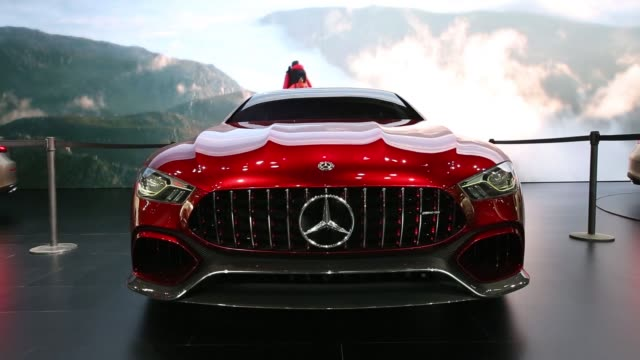 mercedesbenz ag amg gt concept vehicles stand on display during the press day of the seoul motor show in goyang south korea on thursday march 30 2017 - goyang stock videos and b-roll footage