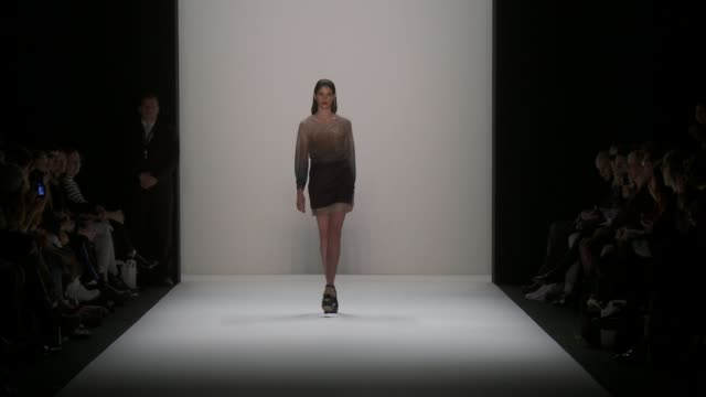 MercedesBenz Berlin Fashion Week AW13 Hien Le on January 15 2013 in Berlin Germany