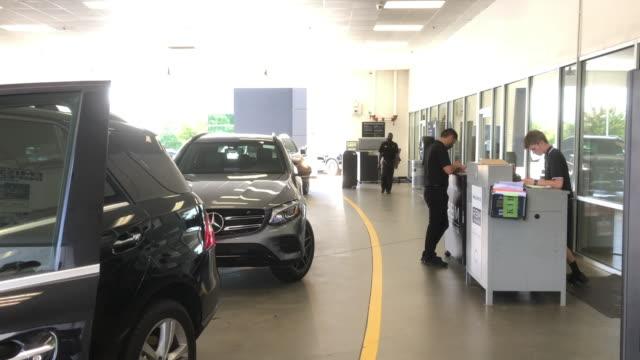 mercedesbenz dealership in atlanta georgia usa - car showroom stock videos & royalty-free footage