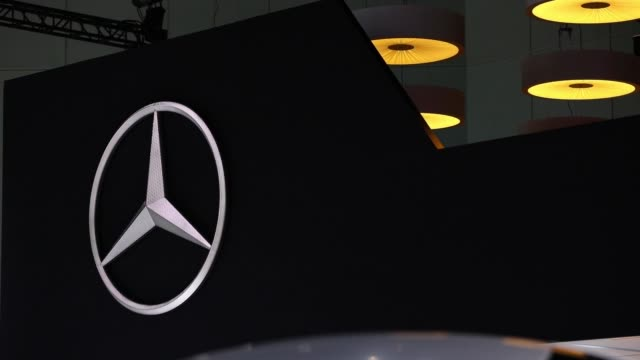 mercedesbenz signage displayed during automobility la ahead of the los angeles auto show in los angeles california us on thursday nov 30 2017... - mercedes benz stock videos & royalty-free footage