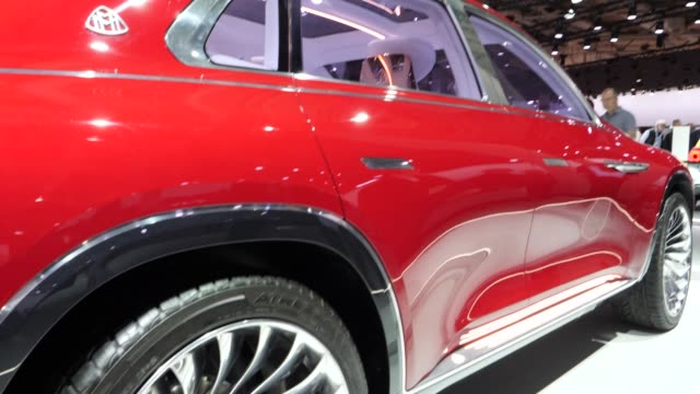 mercedes-maybach luxury suv stands among vehicles on display at the annual daimler ag shareholders meeting on may 22, 2019 in berlin, germany.... - annual general meeting stock videos & royalty-free footage