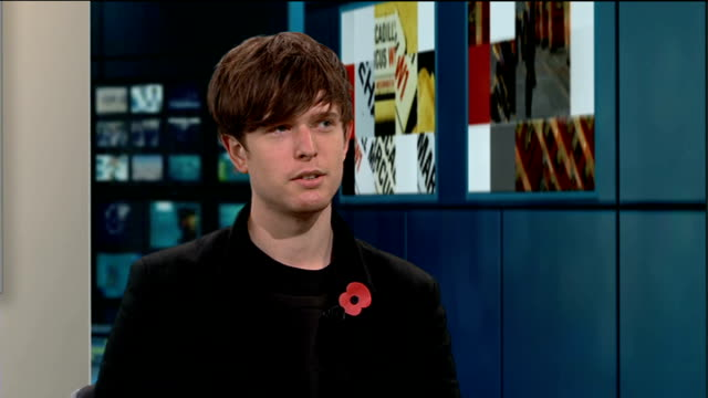 mercury music prize 2013: james blake wins; blake live studio interview sot - mercury music prize stock-videos und b-roll-filmmaterial