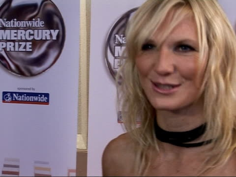 jo whiley; england: london: int jo whiley interview sot - discusses favourites to take prize - arctic monkeys respect the mercury prize, really sweet... - mercury music prize stock-videos und b-roll-filmmaterial