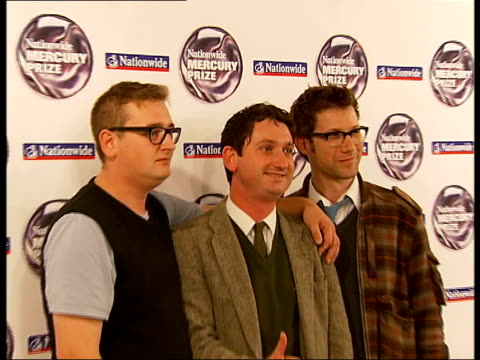 mercury music prize: nominations announced; the young knives posing for photocall - mercury music prize stock-videos und b-roll-filmmaterial