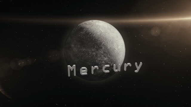 mercury planet in space 3d illustration - adobe after effects stock videos and b-roll footage