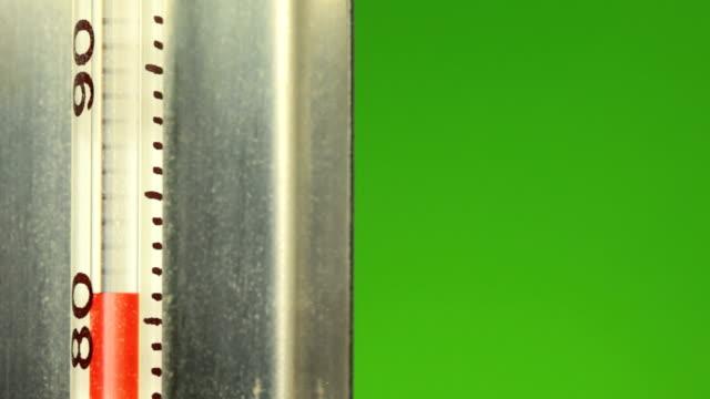 mercury wachsender grünen bildschirm - thermometer stock-videos und b-roll-filmmaterial