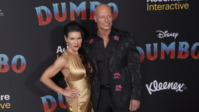 """mercy malick and joseph gatt at the """"dumbo"""" world premiere at the el capitan theatre on march 11, 2019 in hollywood, california. - el capitan theatre stock videos & royalty-free footage"""