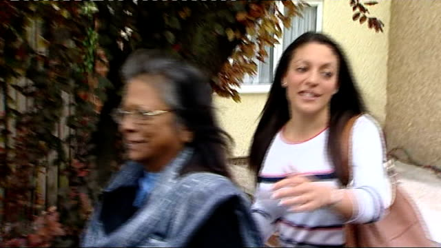 kercher family return home after knox and sollecito acquittal england surrey coulsdon ext arline kercher and stephanie kercher walking along road on... - acquittal stock videos and b-roll footage