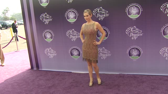 meredith monroe at the breeders' cup world thoroughbred championships at arcadia ca. - championships stock videos & royalty-free footage