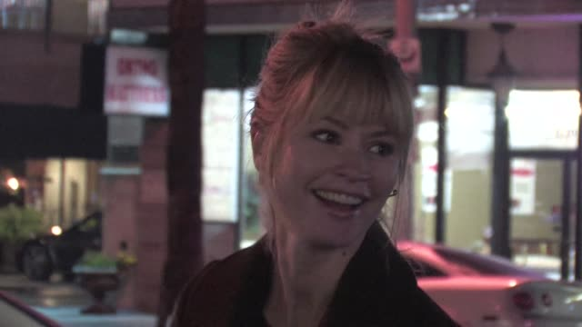 meredith monroe greets fans at dari boutique in studio city 01/23/12 in celebrity sightings in los angeles - studio city stock videos & royalty-free footage