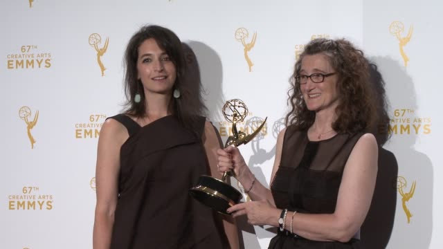 meredith tucker and allison jones at the 2015 creative arts emmy awards at microsoft theater on september 12, 2015 in los angeles, california. - tucker stock videos & royalty-free footage