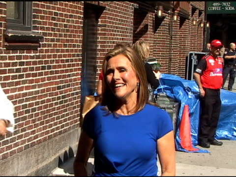 meredith vieira outside the 'late show with david letterman' on 6/6/2011 - meredith vieira stock videos & royalty-free footage