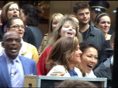 meredith viera, ann curry and al roker at the today show in new york at the celebrity sightings in new york at new york ny. - meredith vieira stock videos & royalty-free footage
