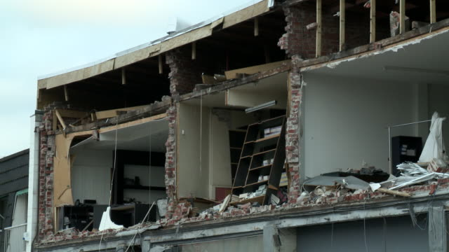 merivale earthquake damage - christchurch stock-videos und b-roll-filmmaterial