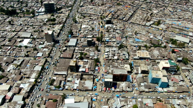 merkato, market in the slums/ addis ababa aerial view - horn of africa stock videos & royalty-free footage