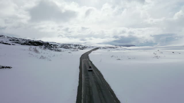 merkenes road winter scenery / sweden - sweden stock videos & royalty-free footage