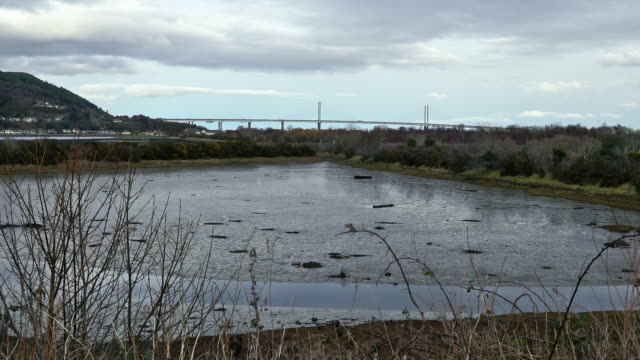 merkinch local nature reserve, witches coffin pool, inverness, uk - mud flat stock videos & royalty-free footage