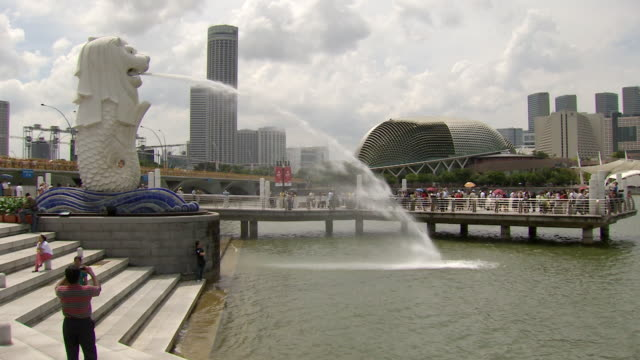 ms merlion singapore / singapore - merlion fictional character stock videos and b-roll footage