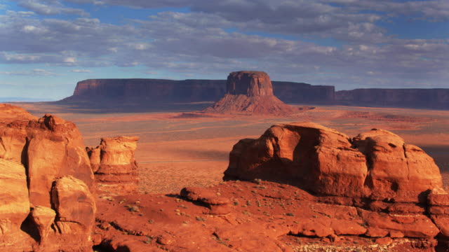 merrick butte, monument valley - drone shot - navajo reservation stock videos and b-roll footage