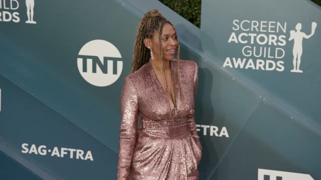 merrin dungey at the 26th annual screen actors guild awards arrivals at the shrine auditorium on january 19 2020 in los angeles california - shrine auditorium stock videos & royalty-free footage