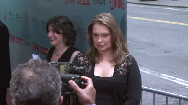 merritt wever at the world premiere of showtime's 'nurse jackie' at new york ny - nurse jackie video stock e b–roll