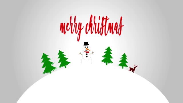 4k merry christmas-3d snö världen animation - vaja bildbanksvideor och videomaterial från bakom kulisserna