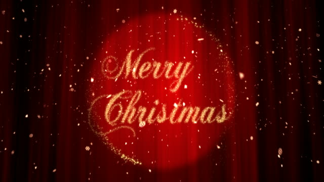 merry christmas - 4k - stage performance space stock videos & royalty-free footage