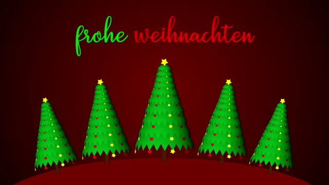 4k merry christmas animation| loopable - german language stock videos & royalty-free footage