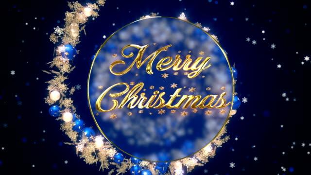 メリー クリスマス ブルーの装飾品 - 3d点の映像素材/bロール