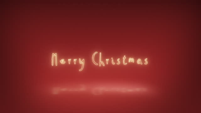 Merry Christmas Happy New Year Animated Text
