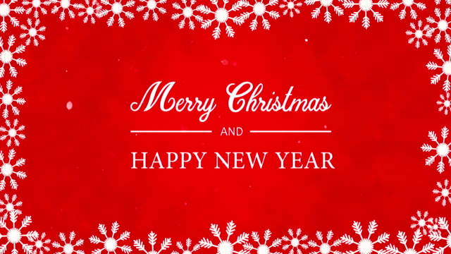 merry christmas happy new year text animation - world title stock videos & royalty-free footage