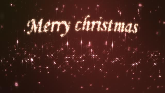 メリークリスマスのループ赤色 - 茶色背景点の映像素材/bロール
