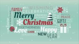 Merry Christmas tag cloud